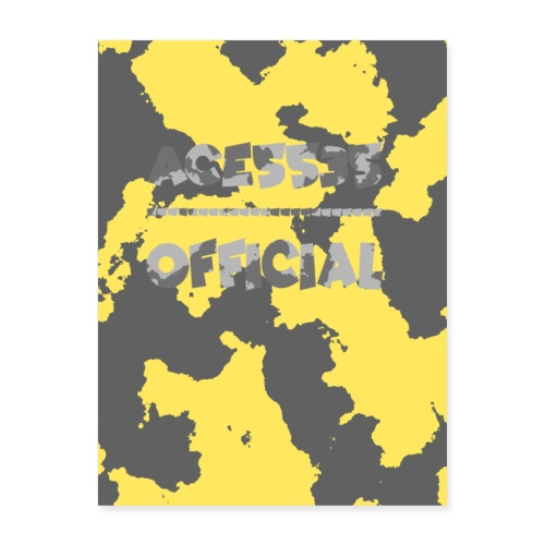 Ace5535 Official Poster Yellow - Poster 18x24