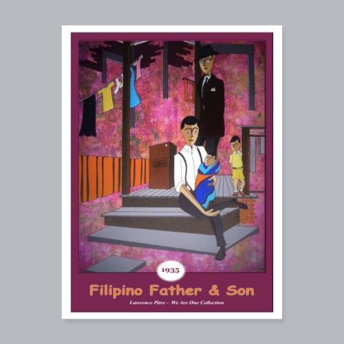 Filipino Father Son - Poster 18x24