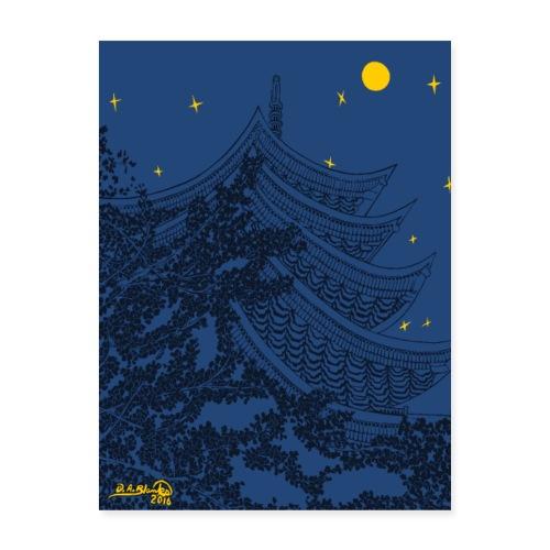 Pagoda Nights - Poster 18x24