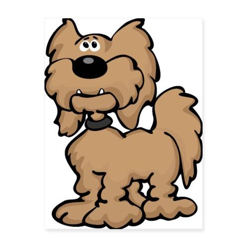 Labradoodle Dog Cartoon - Poster 18x24