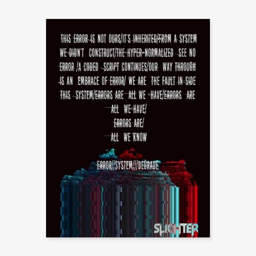 ERROR Lyric Poster - Poster 18x24