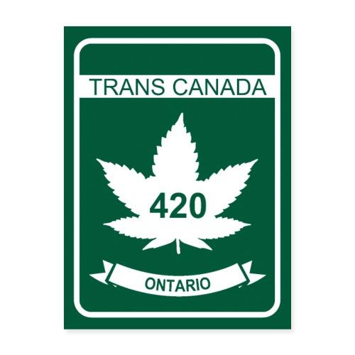 Trans Canada 420 Ontario - Poster 18x24