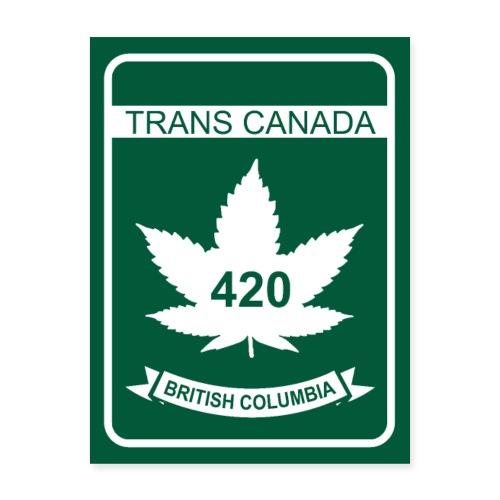 Trans Canada 420 British Columbia - Poster 18x24