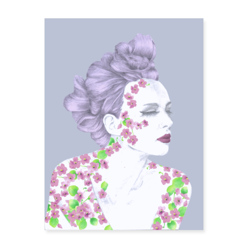 The Girl With The Flower Tattoo - Poster 18x24