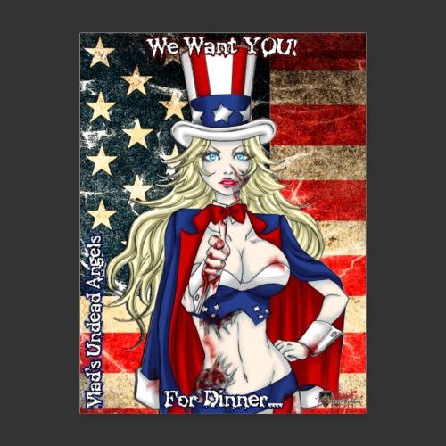 Undead Angels Classics: Zombie Patriotic Samantha - Poster 18x24