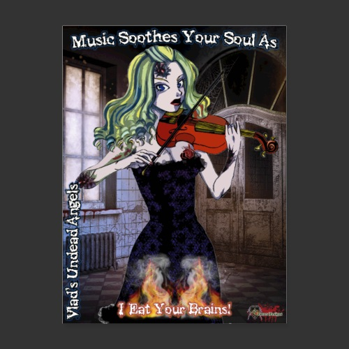 Undead Angels Classics: Zombie Violinist Ariel - Poster 18x24