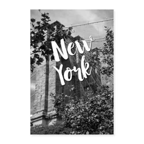 New York - Brooklyn Bridge - Poster 24x36