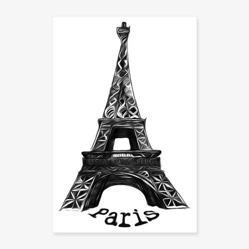Eiffel Tower, Paris, France - Poster 24x36