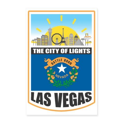 Las Vegas - Nevada - The city of light! - Poster 24x36