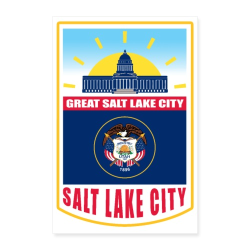 Utah - Salt Lake City - Poster 24x36