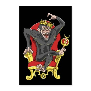 Bitcoin Monkey King - Beta Edition - Poster 24x36