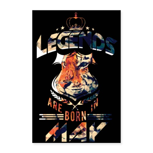 LEGENDS Are Born In May - Poster 24x36