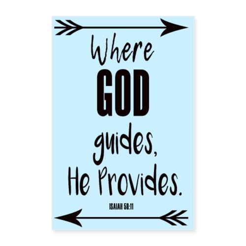 GOD Guides Provides Poster - Poster 24x36