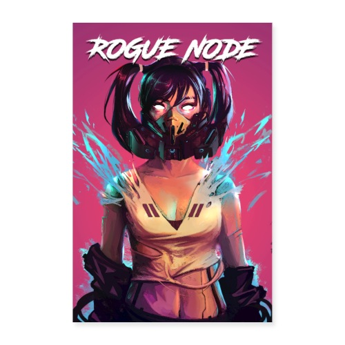 ROGUE NODE POSTER PINK BACK - Poster 24x36