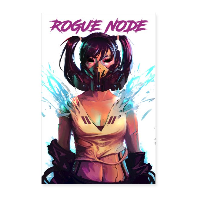 ROGUE NODE POSTER WHITE BACK