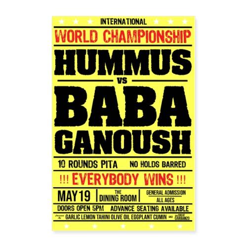 Hummus vs Baba Ganoush - Poster 24x36