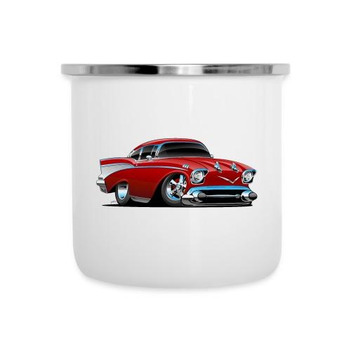 Classic hot rod 57 muscle car - Camper Mug