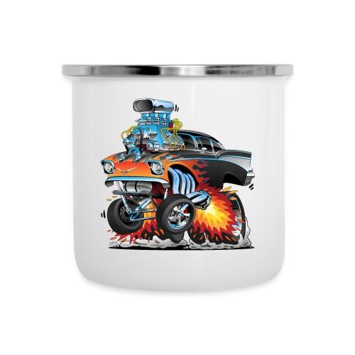 Classic hot rod 57 gasser dragster car cartoon - Camper Mug