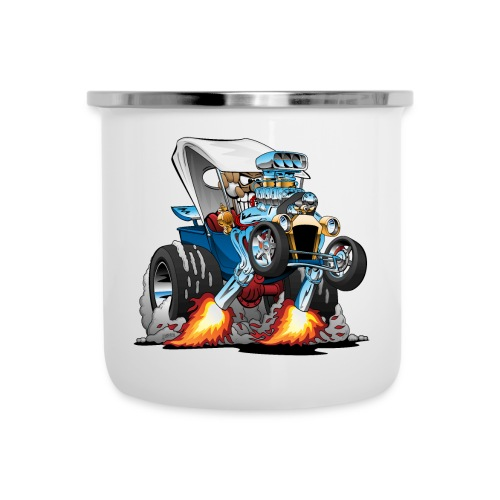 Custom T-bucket Roadster Hotrod Cartoon - Camper Mug