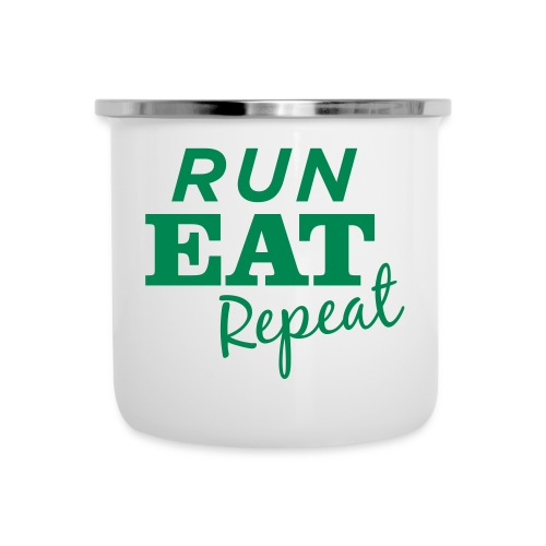 Run Eat Repeat buttons medium - Camper Mug
