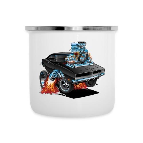 Classic 69 American Muscle Car Cartoon - Camper Mug
