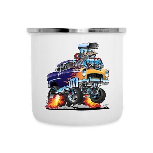 Classic Fifties Hot Rod Muscle Car Cartoon - Camper Mug