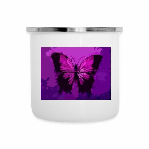 Fuchsia Pink Butterfly - Camper Mug