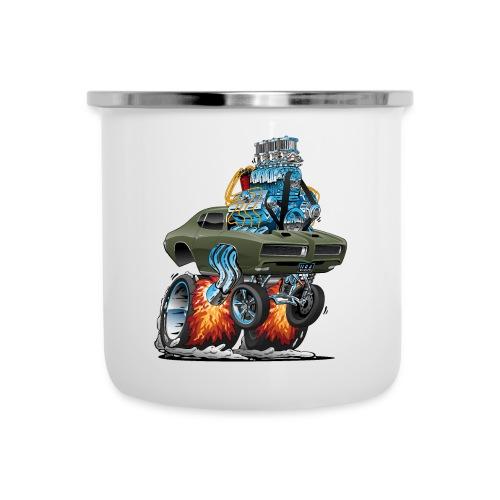 Classic American Muscle Car Hot Rod Cartoon - Camper Mug