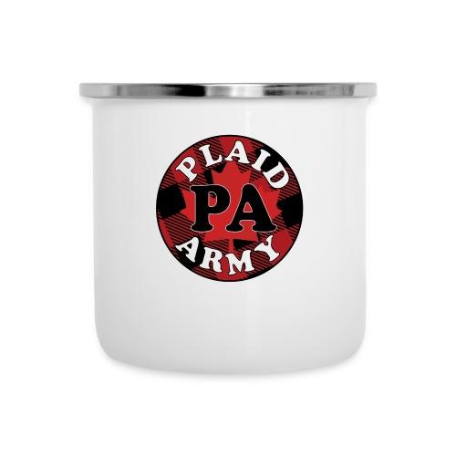 plaid army round - Camper Mug