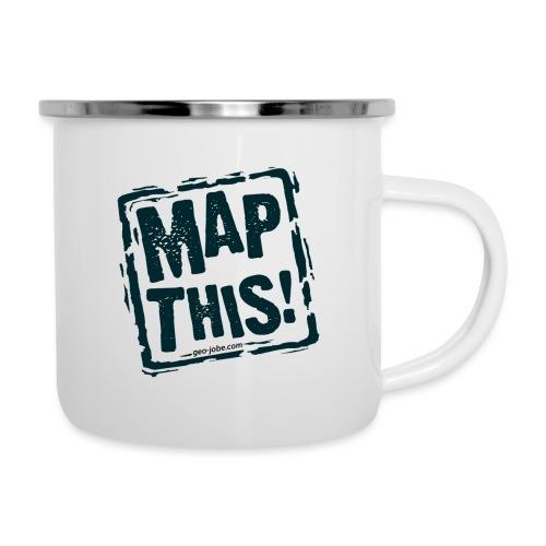 MapThis! Black Stamp Logo - Camper Mug