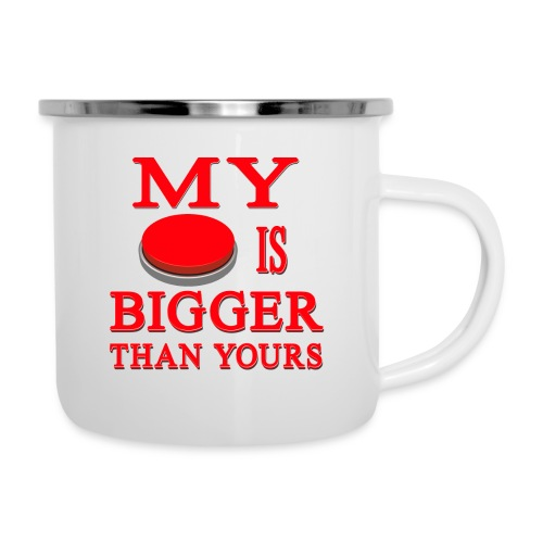 My Button Is Bigger Than Yours - Camper Mug