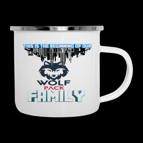 We Are Linked As One Big WolfPack Family - Camper Mug