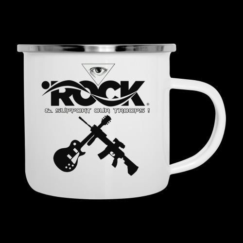 Eye Rock & Support The Troops - Camper Mug