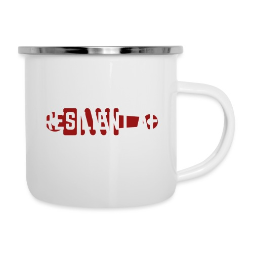 RESILIENT WHITE with red - Camper Mug