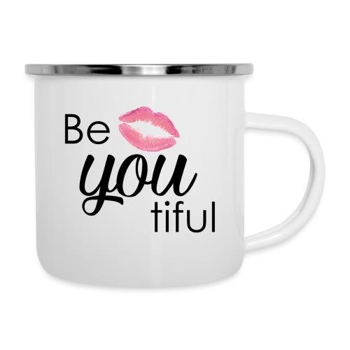 Be-You-Tiful Lip Logo - Camper Mug