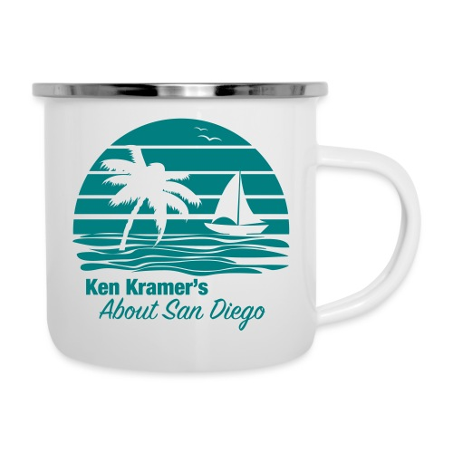 Ken's Awesome Monochrome Logo - Camper Mug