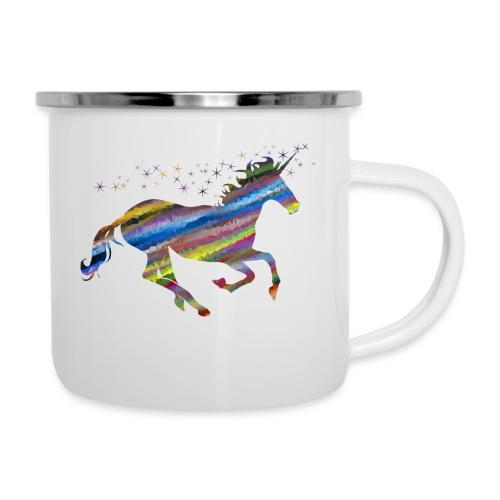 The Majestic Prismatic Streaked Magical Unicorn - Camper Mug