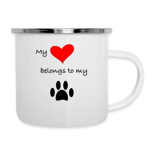 Dog Lovers shirt - My Heart Belongs to my Dog - Camper Mug