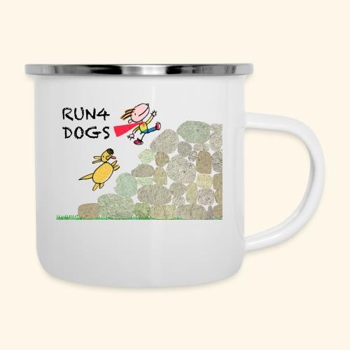 Dog chasing kid - Camper Mug