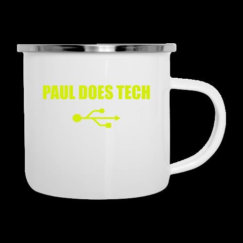 Paul Does Tech Yellow Logo With USB (MERCH) - Camper Mug
