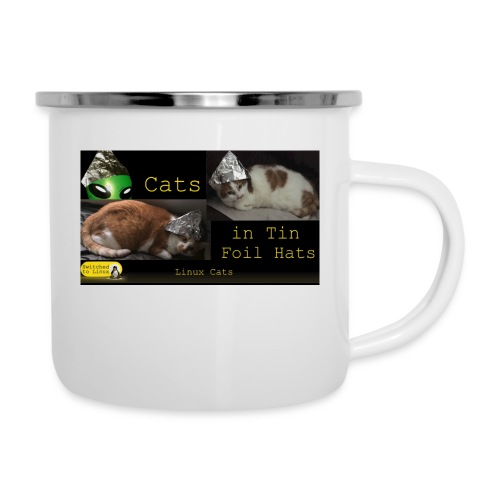 Cats in Tin Foil Hats - Camper Mug