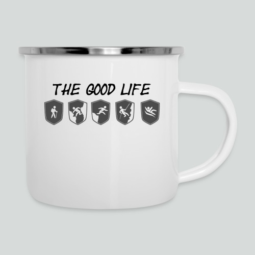 THE GOOD LIFE-on light front-2 sided - Camper Mug