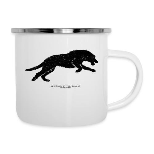 Running Wolfhound - Camper Mug