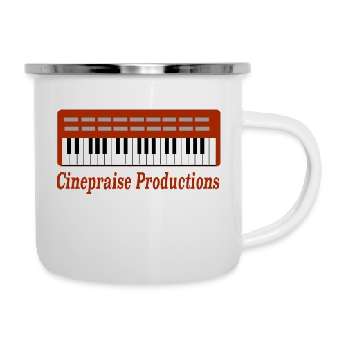 Cinepraise Logo Red Text - Camper Mug