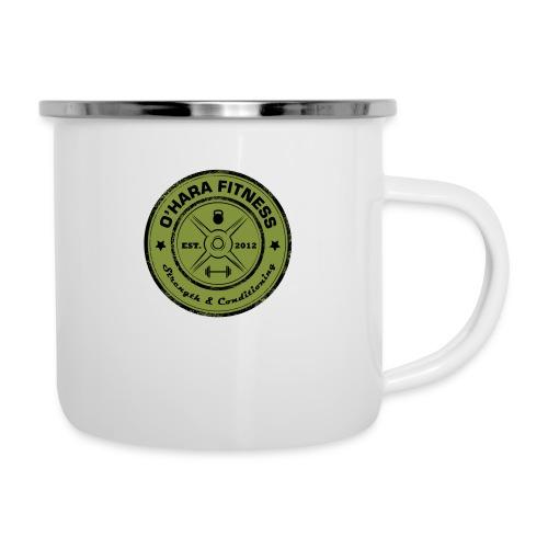 White Mug Green logo - Camper Mug