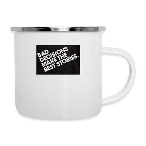 bad decisions make best stories - Camper Mug