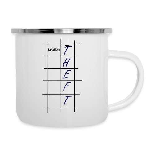 Taxation is Theft Crossword - Camper Mug