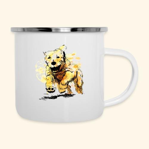 oil dog - Camper Mug