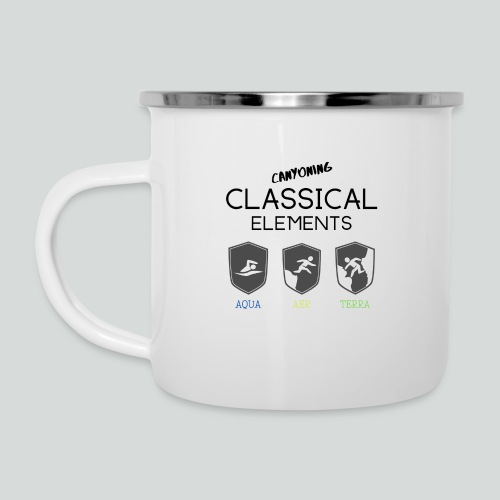 CLASSICAL ELEMENTS-on light back-2 side- all badge - Camper Mug