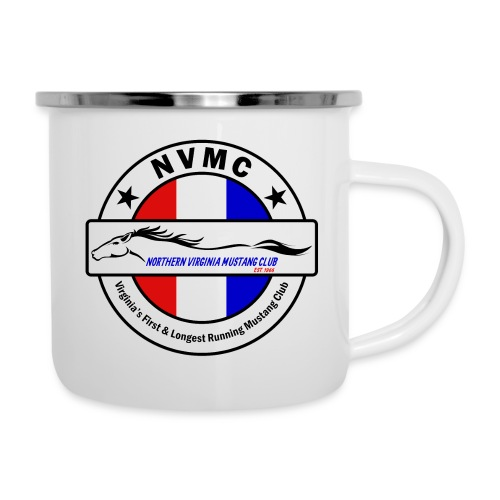 Circle logo on white with black border - Camper Mug